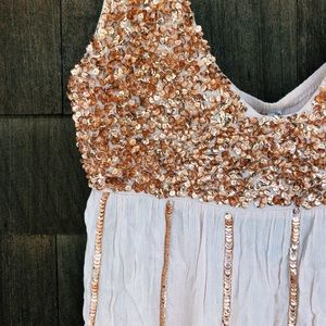 NWT Free People Sequin Slip Mini Dress S
